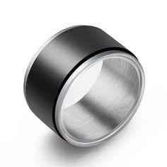 Le Baiser 12MM Men's 316 Stainless Steel Rolling Ring Ring Titanium Steel Engagement Rolling Ring #Affiliate