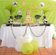 Panda Bear Themed Baby Shower via Kara's Party Ideas KarasPartyIdeas.com Party supplies, tutorials, recipes, printables, cake, banners and more! #panda #pandabear #pandabearparty #genderneutralparty #pandabearbabyshower #karaspartyideas #partyplanning #partydesign (6)