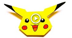 Easy Origami Tutorial – How to make Origami Instructions For Kids, Easy Origami For Kids, Useful Origami, Pokemon Go Crafts, Easy Pokemon, Paper Crafts Origami, Origami Art, Pikachu, Pokemon Bookmark