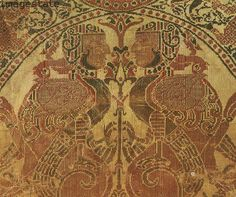 Compound silk cloth, Islamic, from al-Andalus (Andalusia), Spain, c1100. Artist: Werner Forman