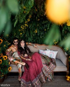 Flower Shower: Influencer Sonam Babani's Festive Mehendi and Ring Ceremony Wedding Couple Poses Photography, Indian Wedding Photography, Photography Poses, Wedding Proposals, Wedding Couples, Wedding Photos, Couple Portraits, Couple Posing, Trending Wedding Hashtags