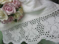 Toca do tricot e crochet: Barrado para toalha de lavabo !!!!
