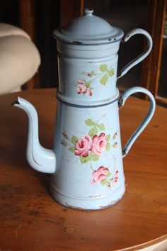 Blue Enamelware Pitcher by BriannesVintageChic on Etsy, $200.00