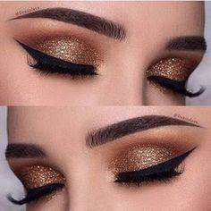 maquiagem dourada brilhos