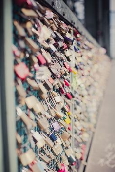 I love this tradition of the locks at the Hohenzoller Bridge (Germany) - the bride and groom add a lock to the Bridge then throw the keys into the water below as a symbol of their union.