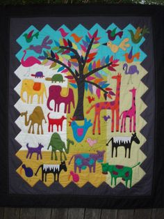 """The Zoo quilt (""""Wend's The Zoo pattern"""" at Material Obsession)"""