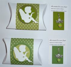 Perlenengel mit Pillowbox Verpackung (mit Alexandra Renke Stanzengel)