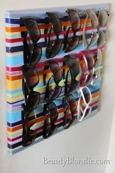 Un joli porte-lunettes : pratique !