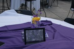 Pictures of former Catamount student-athletes were highlighted on tables at the tailgate Saturday for the All Sports Reunion.