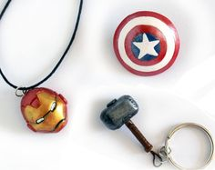 Iron Man's Head Captain America's Shield and Thor's by ArtzieRush