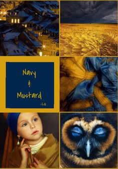 NAVY AND MUSTARD ~~