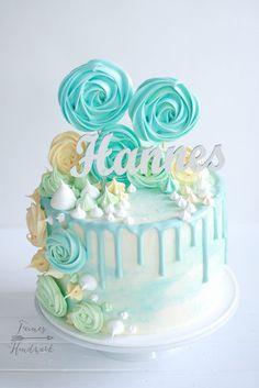 Cake Decorating Designs, Cupcake Cakes, Cupcakes, Fantasy Cake, Cute Birthday Cakes, Ice Cake, Beautiful Desserts, Drip Cakes, Yummy Cakes