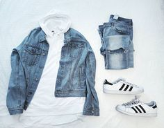 Outfit grid - Casual denim