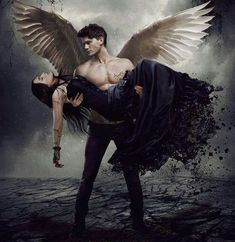 Fallen - based on the Fallen series by Lauren Kate. Don't know if this is a real poster or fanmade but the movie is real and will be released in Fall Haven't read the books yet but it's on my list. Dark Fantasy Art, Fantasy Magic, Fantasy Kunst, Dark Gothic Art, Fantasy Men, Fallen Series, Fallen Book, Saga Fallen, Male Angels