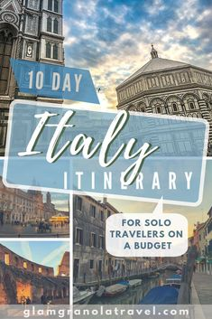 It's totally doable to craft a 10 day Italy itinerary—with some careful planning. Here's my favorite route, featuring Rome, Florence, Venice, and more! Italy Travel Tips, Travel Destinations, Travel Europe, Europe Train, Travel Abroad, Budget Travel, European Destination, European Travel, Italy Vacation