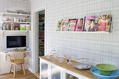 Our new kitchen by Craft & Creativity, via Flickr. Another Ribba cookbook shelf