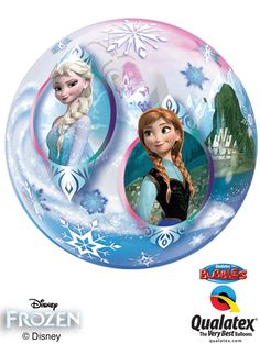This Frozen balloon adds extra enchantment and fun to any party! It has a clear bubble-like design, covered with artwork of Anna, Elsa and Olaf, ready to be filled with either air or helium. Frozen Balloons, Frozen Bubbles, Small Balloons, Bubble Balloons, Helium Balloons, Foil Balloons, Frozen Disney, Disney Disney, Disney Princess