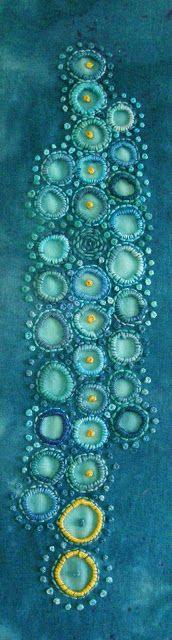 turquoise.quenalbertini: Contempo- rary Blue 'broderie anglais' (detail) | TAFA - The Textile and Fiber Art List