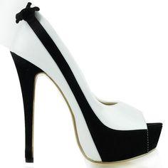 Black and white shoes www.finditforweddings.com Platform shoes