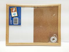 CORK plus DRY ERASE Bulletin Board, 8x11 Great for homeschool. such great size!