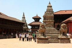 Bhaktapur Durbar Square from the east