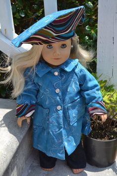 Suede Coat Fits the American Girl by love2sew on Etsy, $26.00