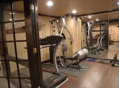 Home Gym Design basement 1 traditional home gym