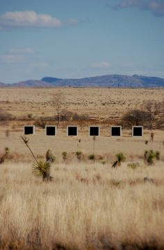 Donald Judd - 15 untitled works in concrete, Marfa TX 1980-84