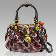 Marino Orlandi Designer Purple Python Leather Purse Crossbody Bag Leather Crossbody Purse Purple Python Leather Purses