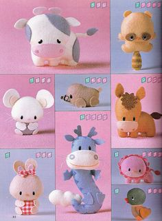 felt toys I want to lean how to make!