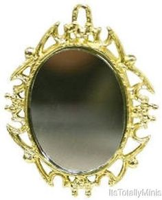 Dollhouse Miniature Mirror, Oval #2314-07