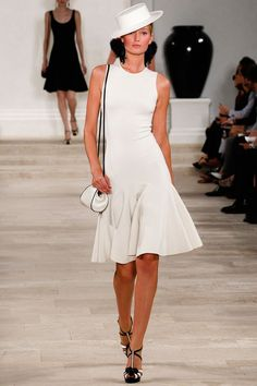 love the dress and shoes, hate the hat: New York Fashion Week Ralph Lauren 2