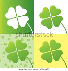 four leaf clover design with four options