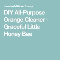 DIY All-Purpose Orange Cleaner - Graceful Little Honey Bee