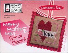 Merry Making Mini: Floral Hearts Cross Stitch Pattern
