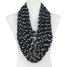 Scarf Necklace Navy  by SAAKO