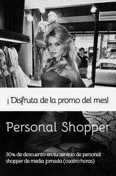 Personal Shopper es aquel profesional que se encarga de realizar compras de vestir y complementos, ya sea por el cliente o sustituyéndolo debido a la falta de tiempo del mismo. Sus servicios pueden ser requeridos tanto para la vida cotidiana como para ocasiones o eventos especiales.