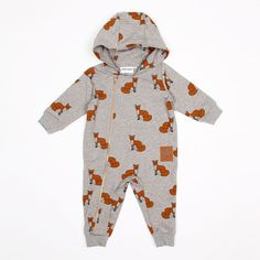 Mini Rodini Fox Onesie