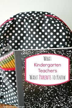 What Kindergarten Teachers Want You to Know for Back to School