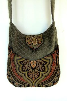 Tapestry Gypsy Bag Messenger Bag Bohemian Green by piperscrossing, $60.00