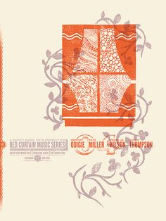 Red Curtain Music Series 04 by danjudgeprints, via Flickr