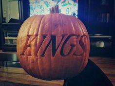 LA Kings pumpkin (Photo by: Twitter fan @Michael Dussert Dussert Dussert Dussert Lee) #HockeyHalloween