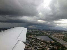Landing in Ft. Lauderdale just before a storm.