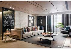 鏡像_工業風設計個案—100裝潢網 Conference Room, Divider, Couch, Table, Furniture, Design, Home Decor, Settee, Decoration Home