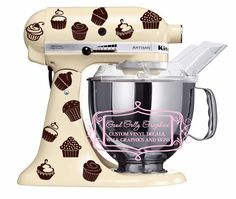 Kitchen mixer vinyl decal set 40 piece by GoodGollyGraphics, $15.00