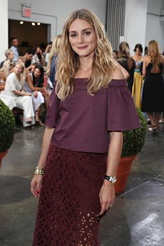 Olivia Palermo attends the Tibi fashion show during New York Fashion Week.