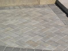 pavers Deck Patio, Front Yard Landscaping, Driveways, Walkways, Outdoor Ideas, Backyard Ideas, Grey Pavers, Paver Path, Patio Tiles