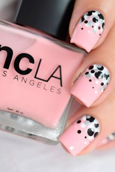 Daily Charm: Over 50 Designs for Perfect Pink Nails ★ See more: http://glaminati.com/perfect-pink-nails/