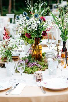 décoration florale thème forêt