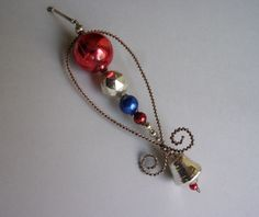 ANTIQUE Czechoslovakia WRAPPED WIRE & GLASS BEADED CHRISTMAS ORNAMENT  | eBay